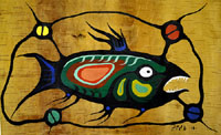 Fish on Birch Bark Francis Esquega