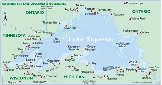 Travel Lake Superior Lake Superior Travel - Lake michigan circle tour map