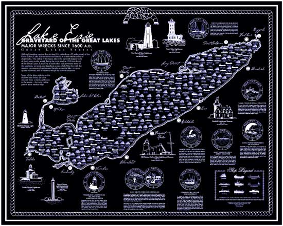 Ship Wreck Map Lake Erie