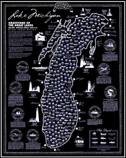 Ship Wreck Map Lake Michigan